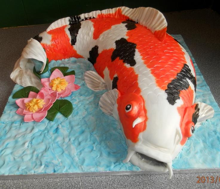 koi carp cake