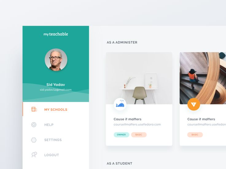 Teachable User Dashboard by Ghani Pradita #Design Popular #Dribbble #shots