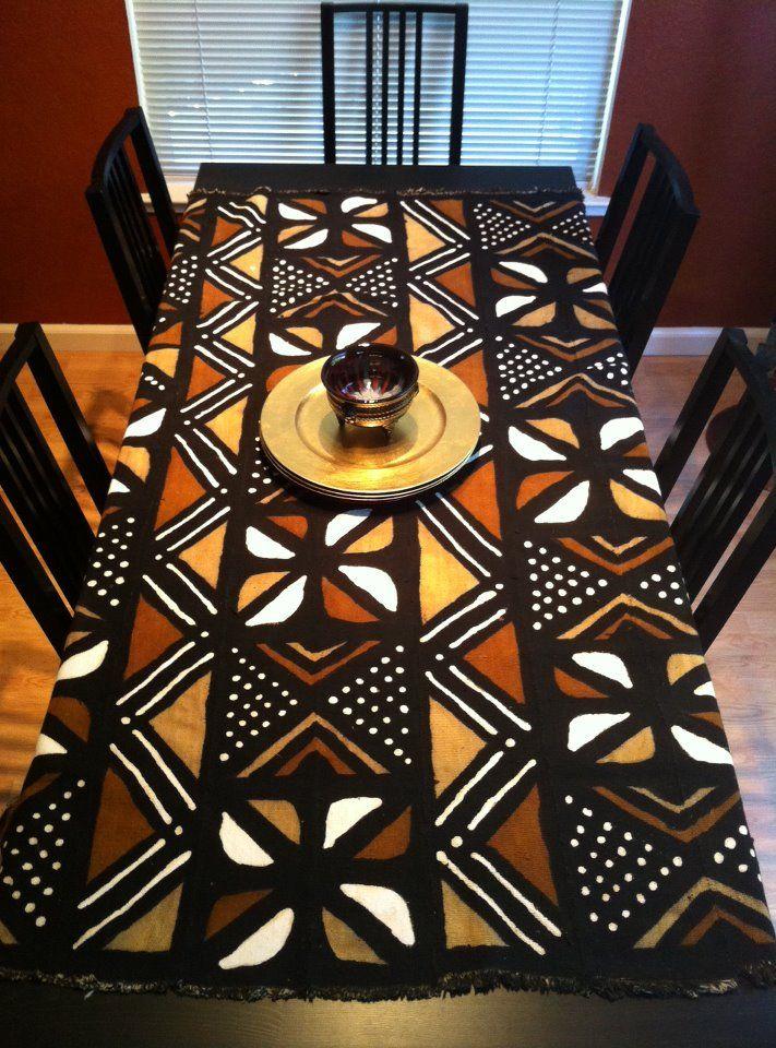 African print fabric - mud-cloth table cloth