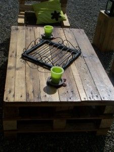 palette patio coffee table