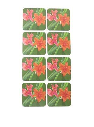 54% OFF rockflowerpaper Set of 8 Amaryllis Drink Coasters