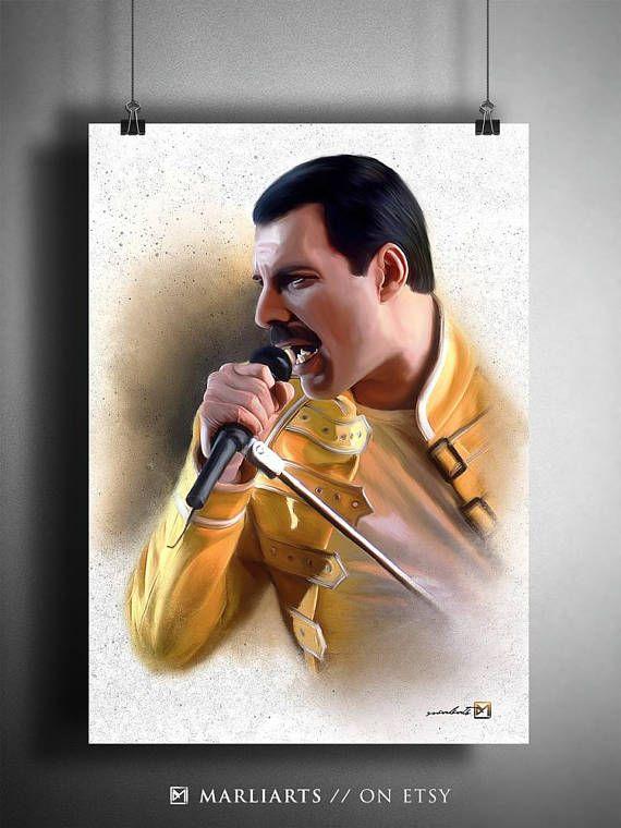 Freddie Mercury Queen Kunstwerk handgemacht druckbare