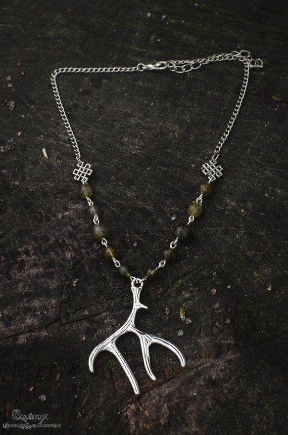 Faun necklace vers. 1  Antler necklace  Pagan by VictoriaEquinox