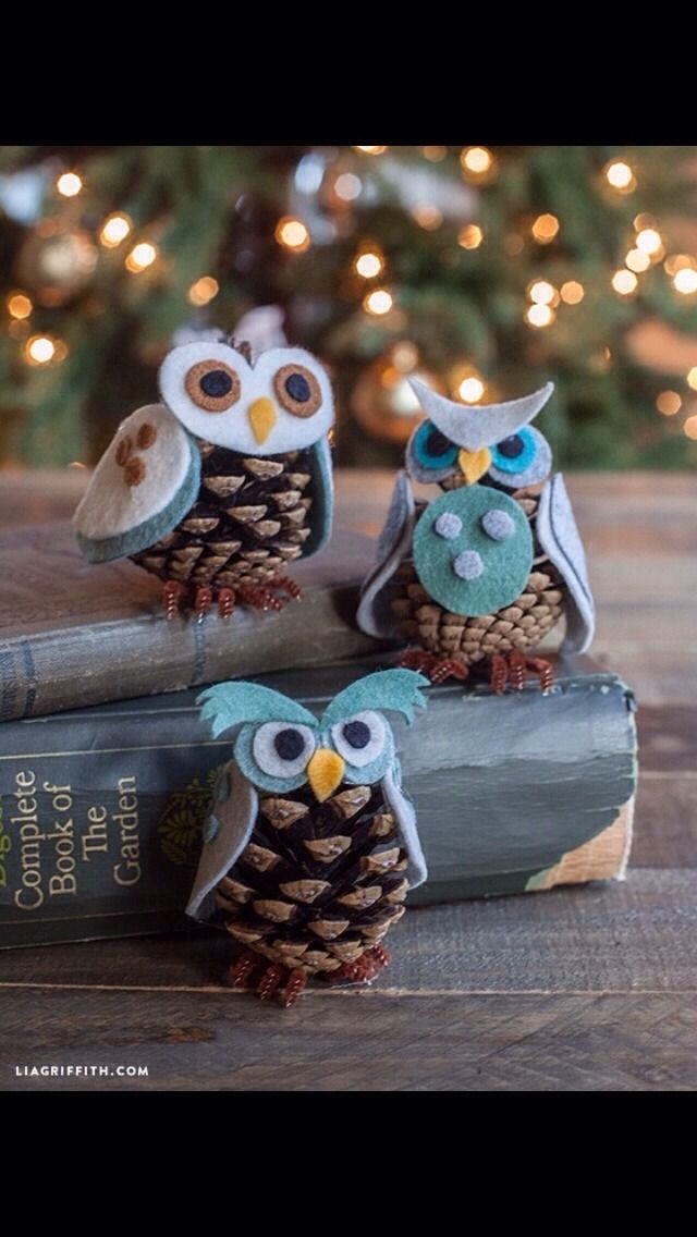Diy Pinecones And Felt Owl tipit #Home #Garden #Trusper #Tip