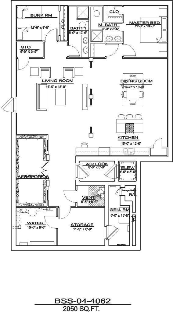 Bss 01 3738 Disaster Bunkers Underground Shelter Underground Bunker Plans Floor Plans
