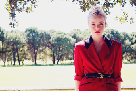 Red Riding Hood Blazer $59 www.rainandhale.com #vintage #fashion
