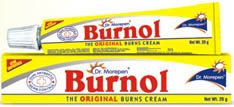 """Burnol cream - supposed to help with burns. As a kid i was terrified of putting this on since I thought it said """"burn all"""""""