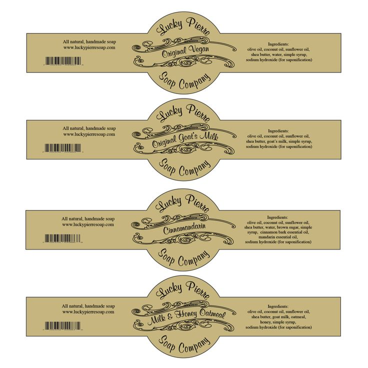 Free Printable Cigar Band Soap Label Template мыло Pinte - Plain address labels template