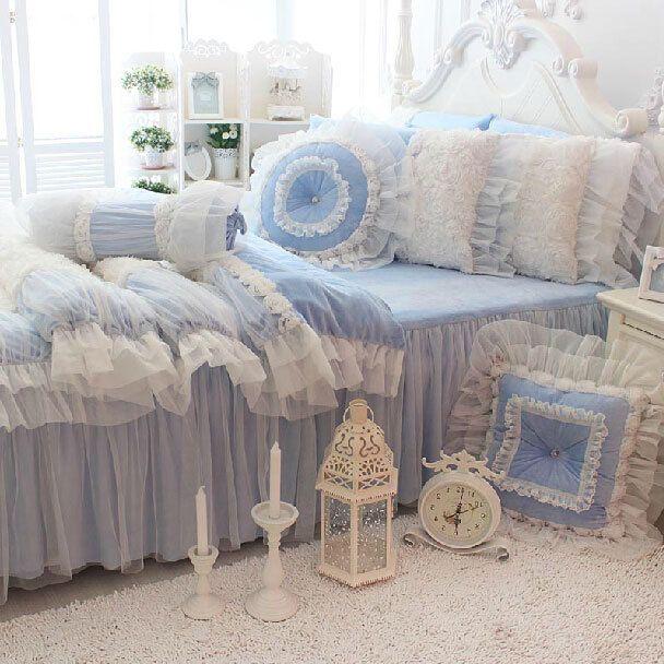 Romântico rendas rosa casar conjunto de cama da menina, Gêmeo completa rainha do rei único roupas de cama de casal colcha pillow shams quilt cover