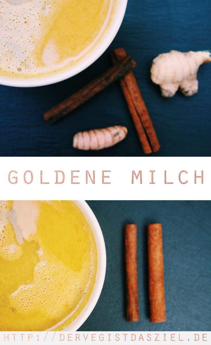Goldene Milch, Kurkuma Latte, Ingwer Latte, vegan, laktosefrei