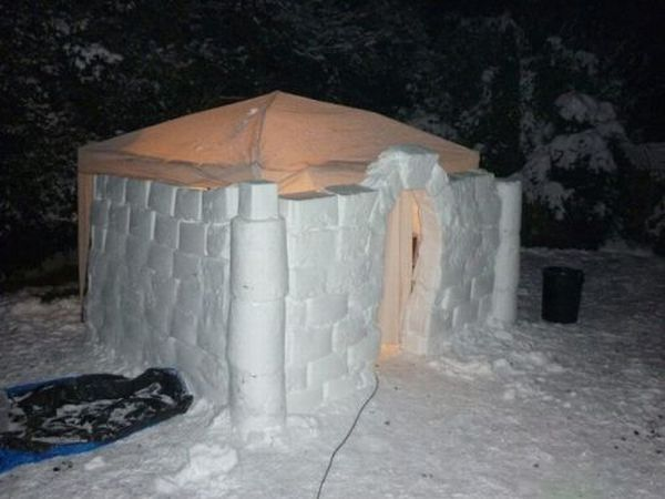 how to build ice sculptures out of ice only