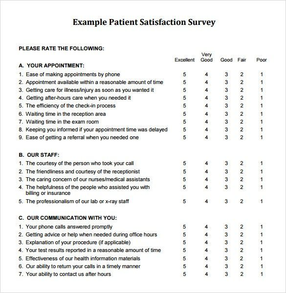 Image Result For Sample Customer Satisfaction Survey
