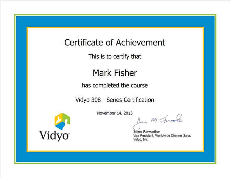 Vidyo 308 - Series Certification - Mark Fisher