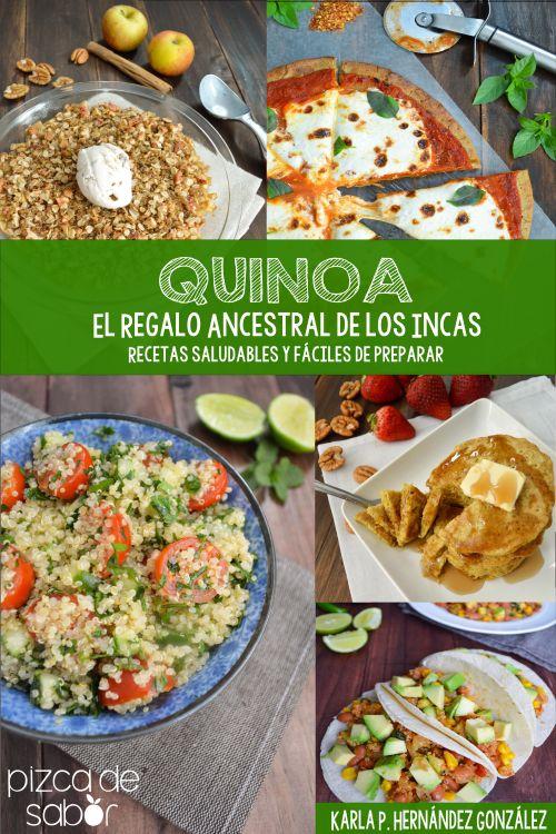 """""""Sabías que la quinoa era conocida por las sociedades Incas en la antigüedad como """"la madre de todos los granos"""" y en la actualidad es catalogada como un """"súper alimento"""". En este libro de cocina """"Quinoa"""" El Regalo Ancestral de los Incas"""", encontrarás recetas llenas de sabor que le van a encantar a toda tu familia. El libro se divide en 6 secciones, básicos, desayunos, entradas y ensaladas, platos fuertes, platos fuertes vegetarianos y postres. (Precio 5.50 dolares - equivale a $99mx…"""