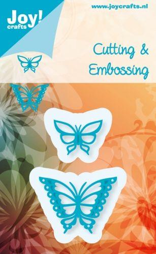 6002/0390 Noor! Design stansen vlinders 2 st.