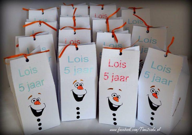 Olaf Frozen traktatie Sweettable