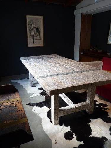 Mesas de comedor decapadas en madera dura Quebracho blanco.