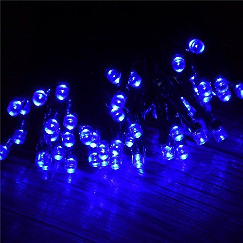 Velice Solar Powered LED String Light Ambiance Lighting 39ft 12m 100 LED Solar Fairy String Lights for For Garden Home Patio Lawn Christmas Trees Party and Holiday Decorations Blue *** You can find more details by visiting the image link.