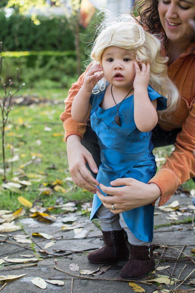 Khaleesi (Arian Durst) Tags: baby halloween costume toddler wig daenerys khaleesi bluedress gameofthrones targaryen motherofdragons