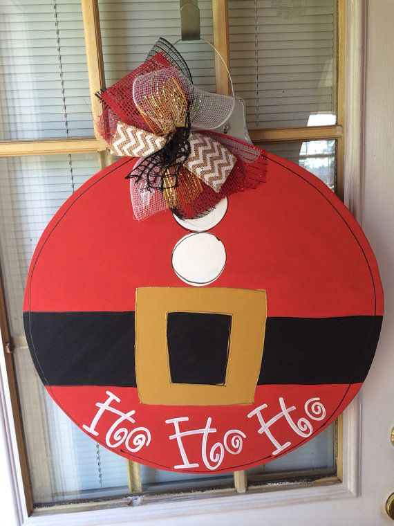 Ornament ho ho ho door hanger  by thePaintedGiraffee on Etsy, $35.00