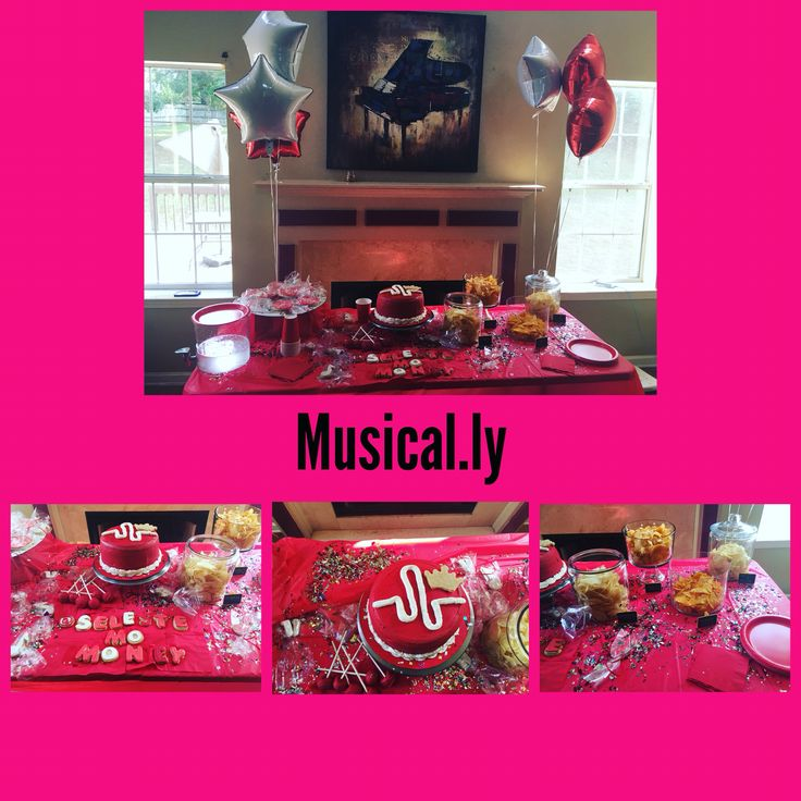 Design a musical.ly party @she.so.sweet.inc @she.parties