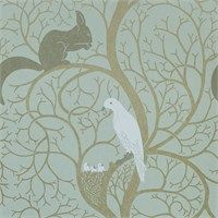 Sanderson Wallpaper - Squirrel & Dove
