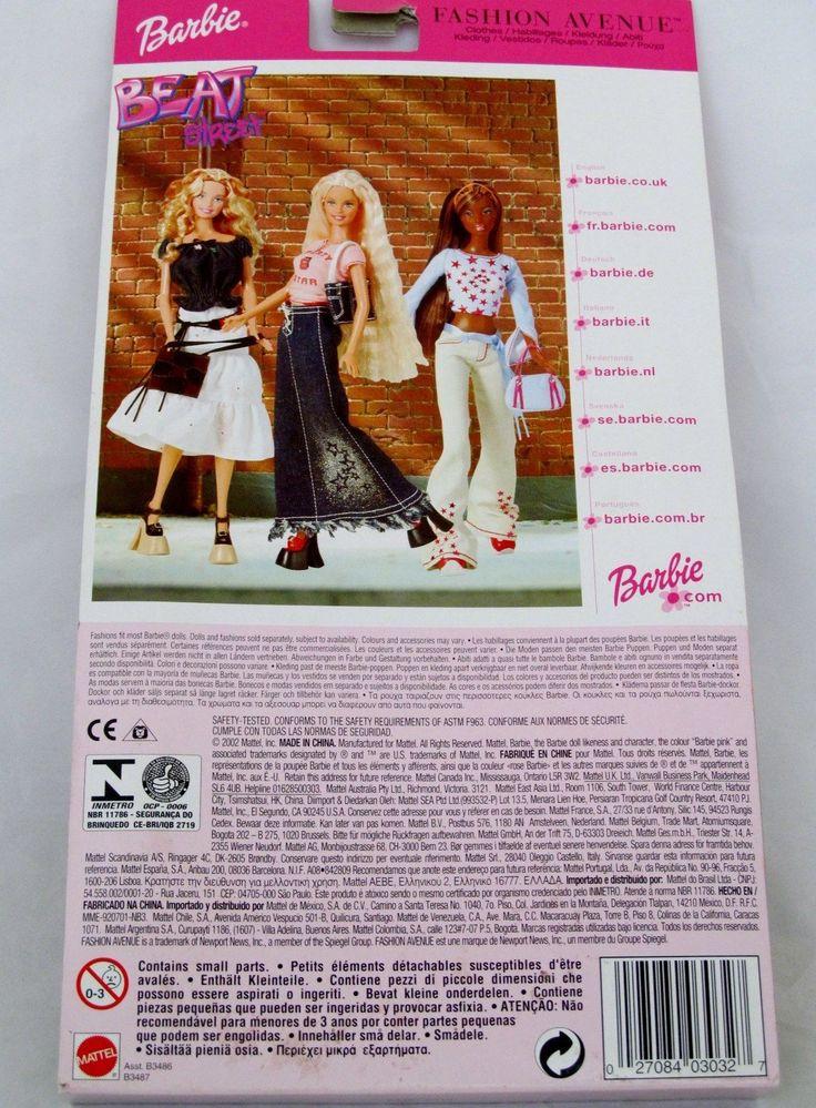 Barbie Doll Fashion Avenue Beat Street Pink top blue Jeans Outfit - kleine u küche
