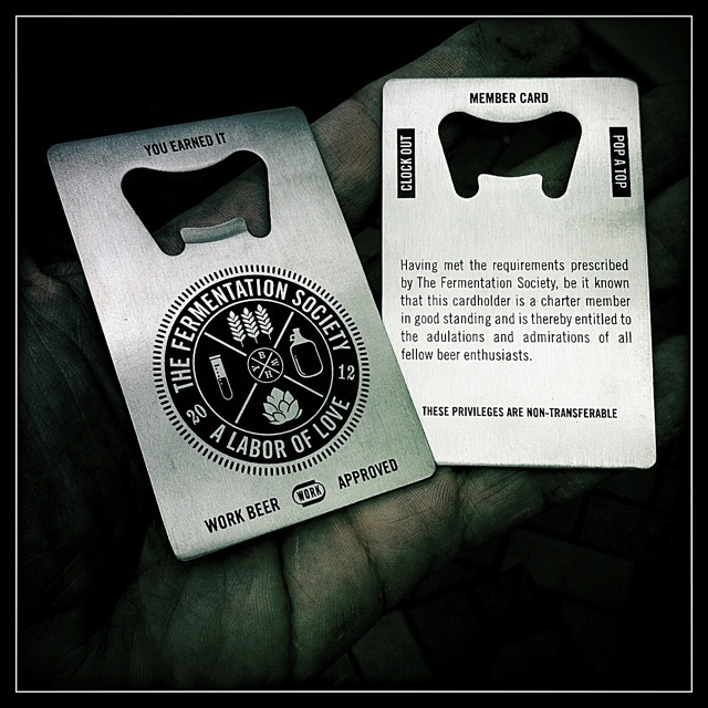 Members Card: doubles as a bottle opener.