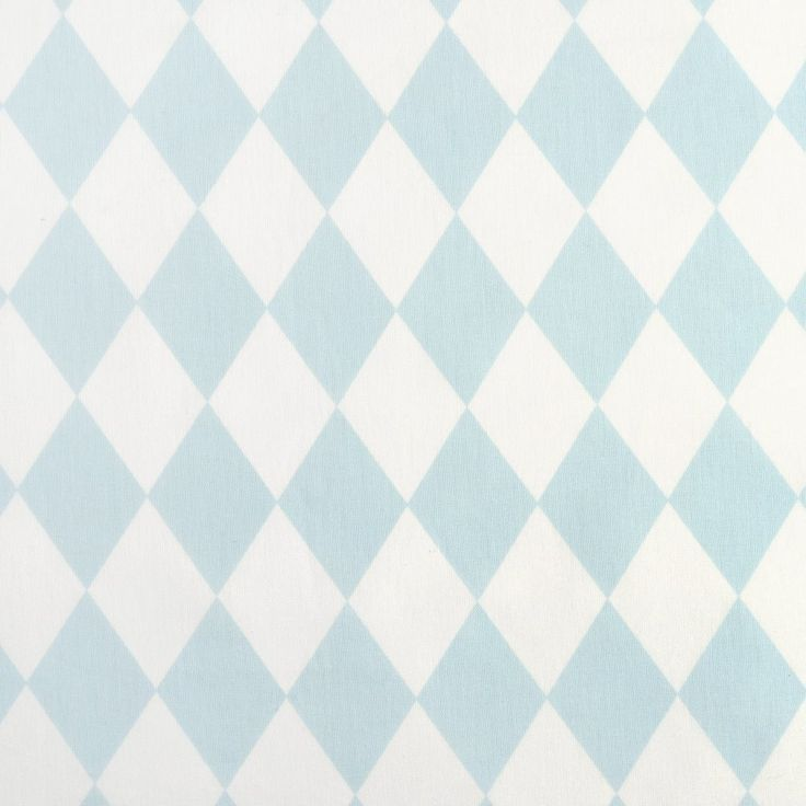 Tissu coton triangles bleu et blanc