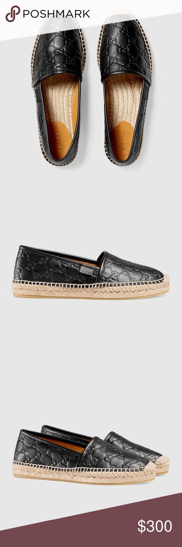 Black leather Gucci espadrilles. 100% authentic black leather Gucci espadrilles! Original price- $450+tax! Gucci Shoes Espadrilles