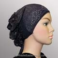 Ruched Hijab Cap #12 Navy Blue