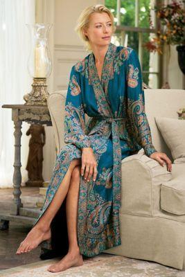 Jamavar Robe I - Paisley Robe, Softest Robe, Soft Long Robe. Women's Robes | Soft Surroundings