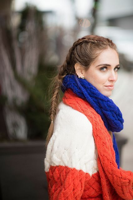 Chiara's alternative boxer braids for Fashion We…