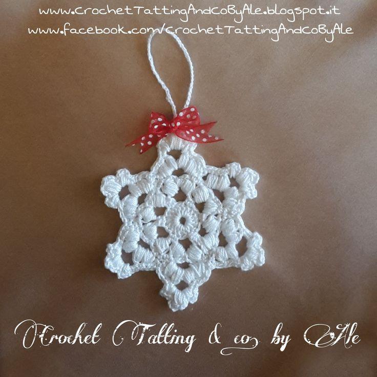 Fiocco di neve, decorazione a uncinetto : Accessori casa di crochet-tatting-and-co-by-ale