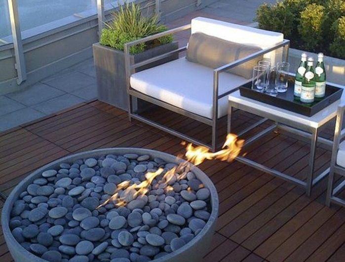 1001 Unglaubliche Balkon Ideen Zur Inspiration Feuerstelle Terrasse Beton Feuerstellen Feuerstelle Garten