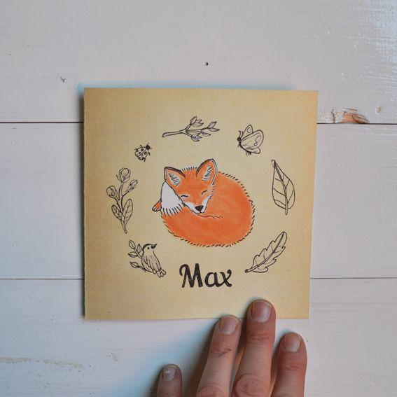 Made a birth announcement card for little Max. Geboortekaartje gemaakt. www.anjamulder.com