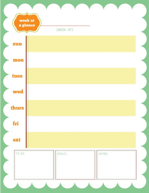 The 25+ best Week at a glance printable ideas on Pinterest At a - free weekly calendar