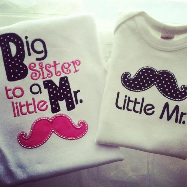 cute shirts for little brother/big sister
