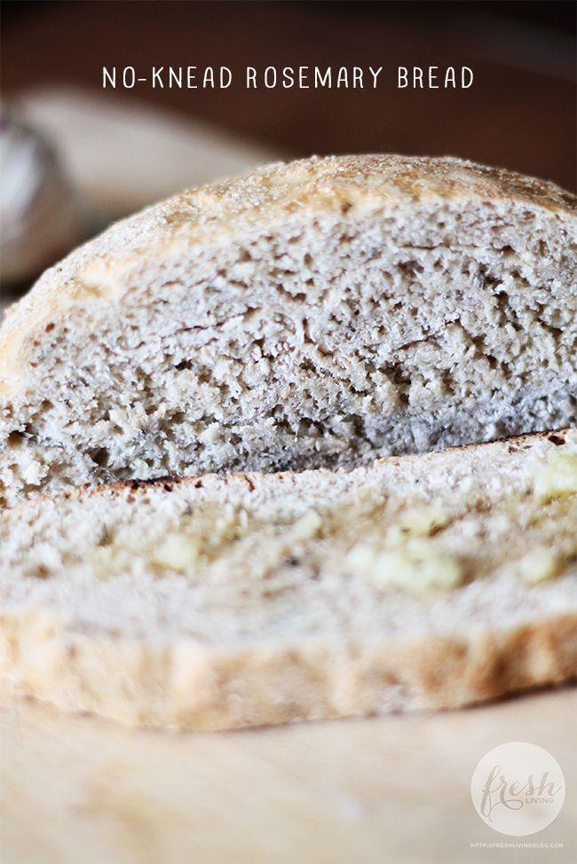 Easy Rosemary No-Knead Bread | Foodie | Pinterest
