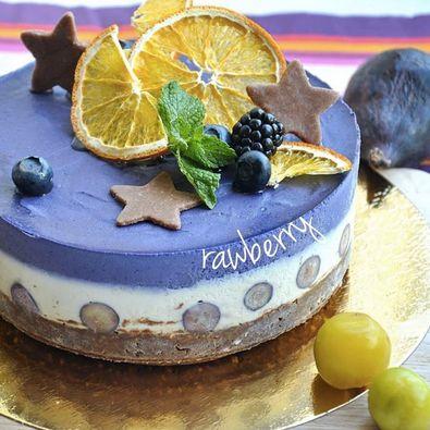 Черника-лимон торт без мастики