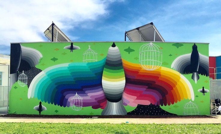 L'asilo di un piccolo paese veneto trasformato in un capolavoro di street art