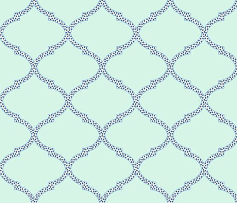 Valencia Trellis in Mint and Navy fabric by sparrowsong on Spoonflower - custom fabric