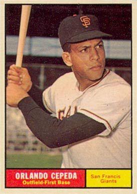orlando cepeda baseball cards | 1961 Topps Orlando Cepeda #435 Baseball Card Value Price Guide