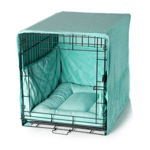 """Pet Dreams Plush Blue 24"""" Dog Pet Puppy Wire Crate Training Cover Bed Bumper Pad   eBay"""