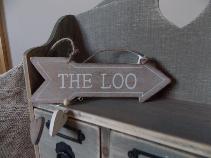 Rustic Wooden Loo Arrow Sign, £2.75
