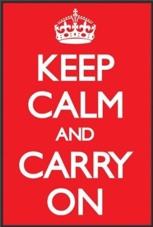 Amazon.com: Keep Calm and Carry On Poster Print, 24x36 Poster Print, 24x36: Home & Kitchen $47.99