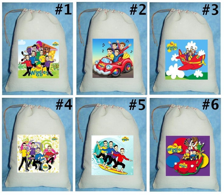 12 The Wiggles Birthday Party Favor Candy Loot by mimaskreations