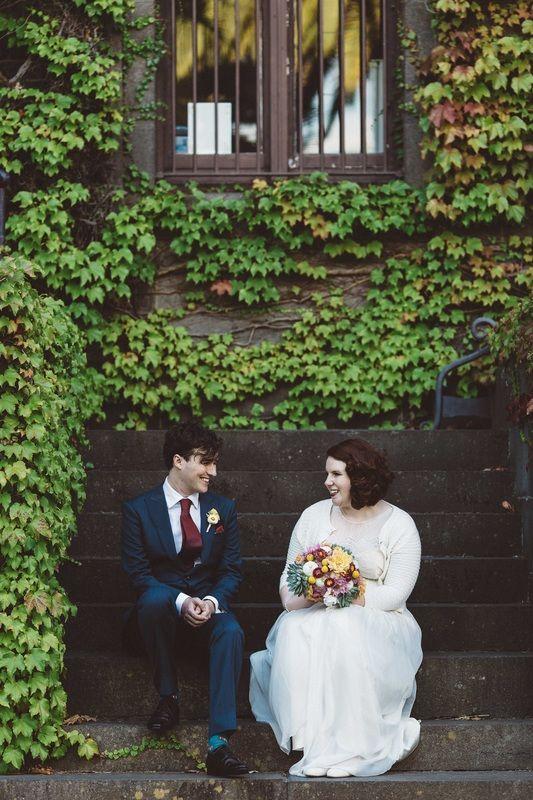 Daytime Melbourne wedding navy suit #wedding #melbourne #ivy #bride #groom