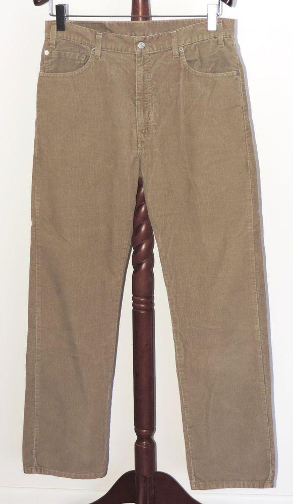 d68ff5476c Levis 505 Regular Fit Straight Leg 36 x 34 Tan Beige Corduroy Pants Levi's # Levis #Corduroys