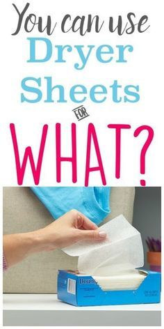10 Frugal Uses for Dryer Sheets | Who knew you could use dryer sheets for so much more than laundry. Great life hacks!